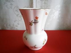 Nagyon régi és ritka KISPÉSZ porcelán váza gyönyörű virág mintával 13 cm magas