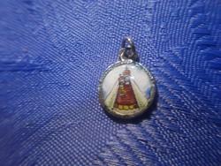 Antik pici ezüst mária zell medál szűzmáriával