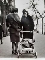 Régi fotó vintage páros női fénykép