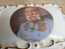Porcelán doboz (Ferenc József)