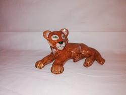 1,-Ft Gyönyörű nagyon ritka Izsépy kerámia tigris!