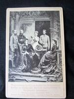 FERENC JÓZSEF ERZSÉBET KIRÁLYNÉ SZISZI RUDOLF TRÓNÖRÖKÖS STEFÁNIA HERCEGNŐ ELJEGYZÉS FOTÓ 1881