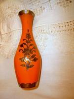 Zománcos  váza ezüstözött díszítéssel 21  cm