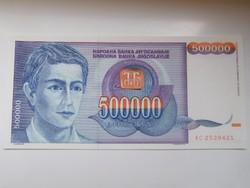 Jugoszlávia 500 000 dinár 1993 UNC