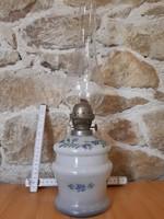 Régi festett tejüveg petróleum lámpa