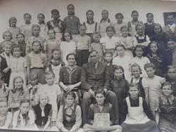 Régi fotó csoportkép vintage fénykép iskolai osztálykép 1948-49