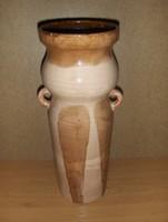 Iparművész füles kerámia váza 33,5 cm (g)