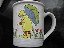 Fél literes kacsás, esernyős sárospataki SKM bögre