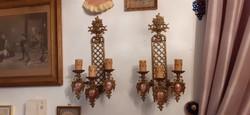 2 db falikar, Fragonard porcelánnal