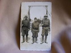 Régi katonai fotó képeslap