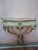 2 db kecskelábú fali éjjeliszekrény , konzolasztalka, barokk stílus