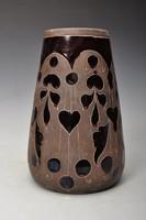 Török László  szecessziós vázája, 16,5cm, Mezőtúr  jelzett