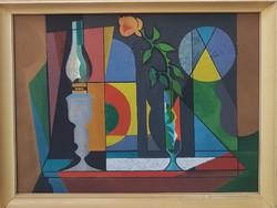 Óvári László (1926-1988) Csendélet 86x66 cm