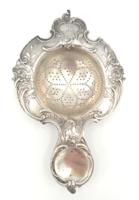Antik ezüst teaszűrő