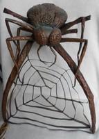 Szecessziós, nagy méretű  különleges pók lámpa  51 x 43 cm
