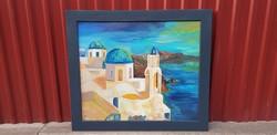115×100-as olaj/farost festmény