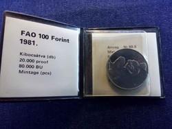 FAO 100 Forint 1981 BP BU / id 11938/