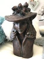 KAlapos hölgy jelzett szobor nehéz súlyos öntveny