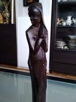 Gyönyörű afrikai keresztény szobor nemesfából