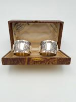 AJÁNDÉKNAK Ezüst szalvétagyűrűk eredeti dobozában Gravírozható