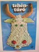 A legendás tejipar reklám plakát   81 x 57 cm.