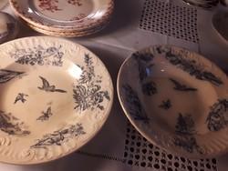 2db régi fajansz tányér