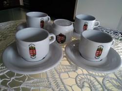 Magyar címeres kávés készlet cukorszóval!