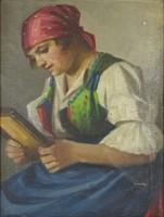 0Y264 Magyar festő XX. század : Várakozás