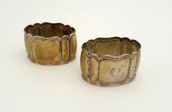 Antik ezüst szalvétagyűrűk Gravírozható