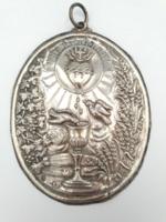 Antik ezüst fali kép 1800-as vége