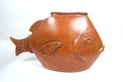 Kerámia hal alakú váza, 1970 körül