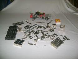 Retro fémépítő játék - autó és alkatrészek - kiegészítésnek