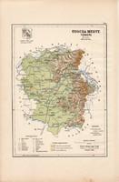 Ugocsa megye térkép 1889 (4), Magyarország, vármegye, atlasz, eredeti, Kogutowicz Manó, 28 x 43 cm