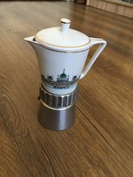 Szép állapotú Budapest látképes retro kávéfőző