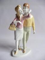 Unterweisbach német porcelán andalgó pár