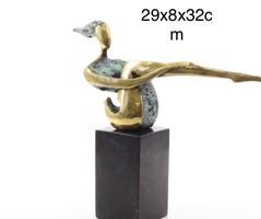 Művészi modern absztrakt bronzszobor