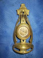 Antik szecessziós réz junghans asztali óra