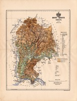 Hont megye térkép 1886 (4), vármegye, atlasz, Kogutowicz Manó, 43 x 56 cm, Gönczy Pál, Börzsöny
