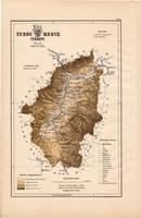 Turóc megye térkép 1889 (4), Magyarország, vármegye, atlasz, eredeti, Kogutowicz Manó, 28 x 43 cm