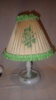Herendi Apponyi mintás porcelán lámpa eredeti ernyőjével