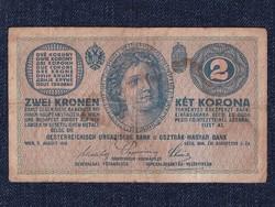 Osztrák-Magyar (háború alatt) 2 Korona bankjegy 1914 / id 11751/