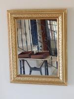 Tükör aranyozott,82 x 66 cm.
