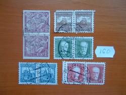 CSEHSZLOVÁKIA 1923- 5 PÁR HÍRES SZEMÉLYEK,VÁRAK VEGYES 10 DB 160#