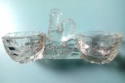 Régi kakasos üveg sótartó