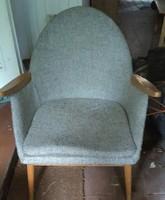 Fotel, szürke huzattal / 2 db, 1950-es évekből