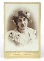 0Y390 Antik Várady Gy. fotográfia női portré 1908