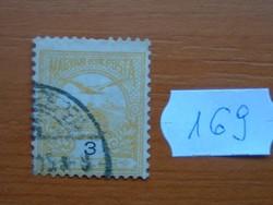 3 FILLÉR 1900- Turul a Szent István korona felett 169#