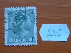 LUXEMBURG 25 C 1921 - 1922 Charlotte nagyhercegnő  226#