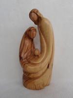 Szent Család - valódi olajfa faragvány 20 cm