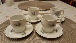 Nagyon szép Hollóházi kávéskészlet, 4 személyes